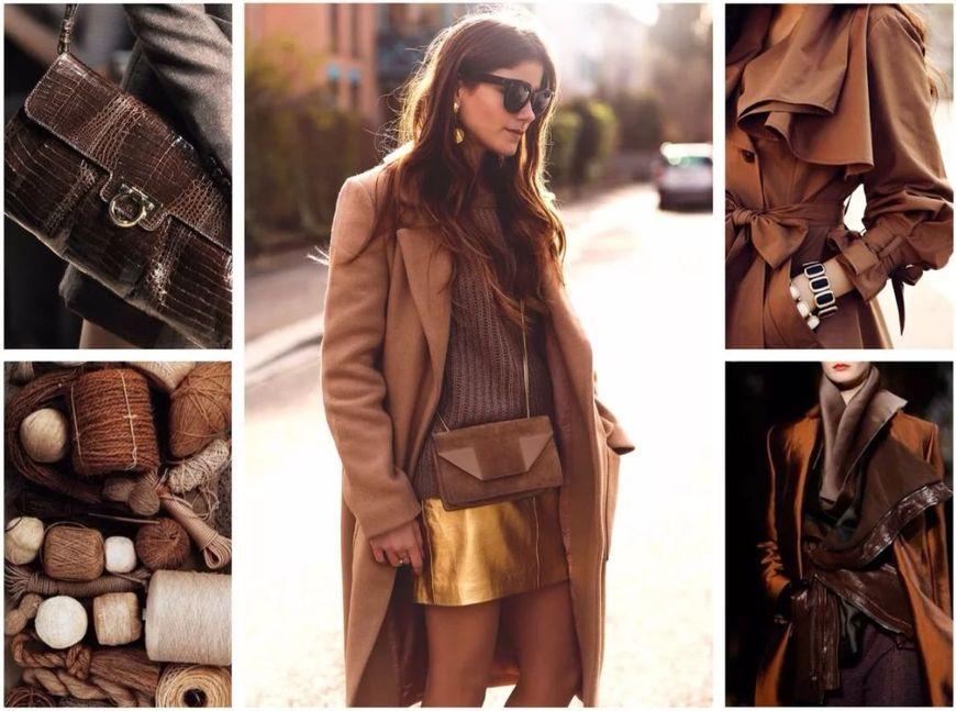 девушка в коричневом